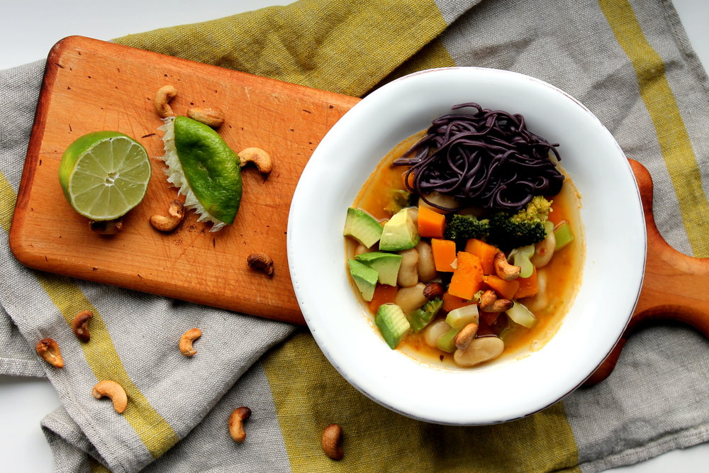 Ginger Lime Sweet Potato Noodle Bowl