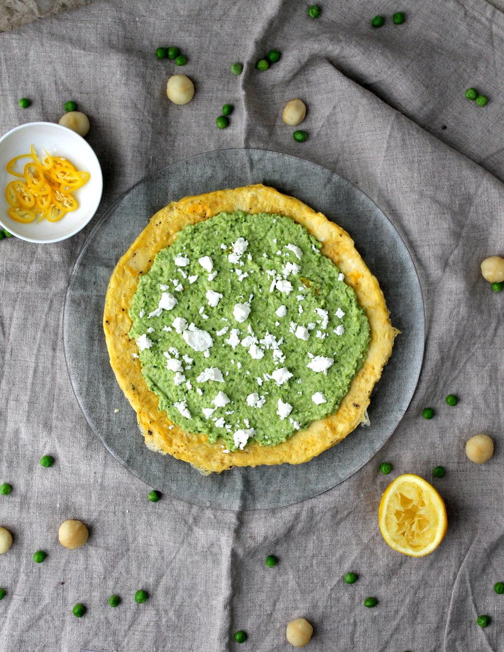 Pea Pesto Omelet Wrap
