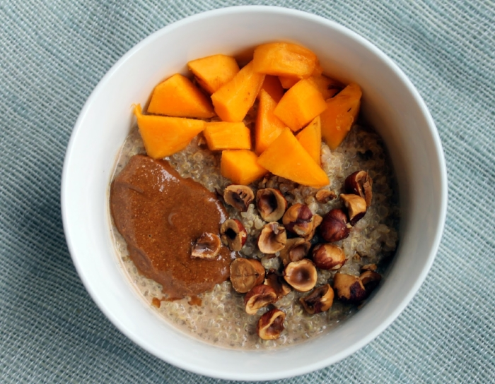 Cinnamon Hazelnut Quinoa Porridge