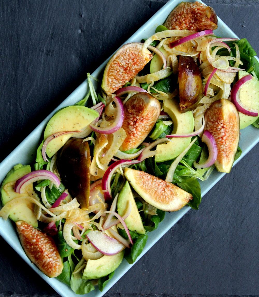 Fig, Fennel & Avocado Salad