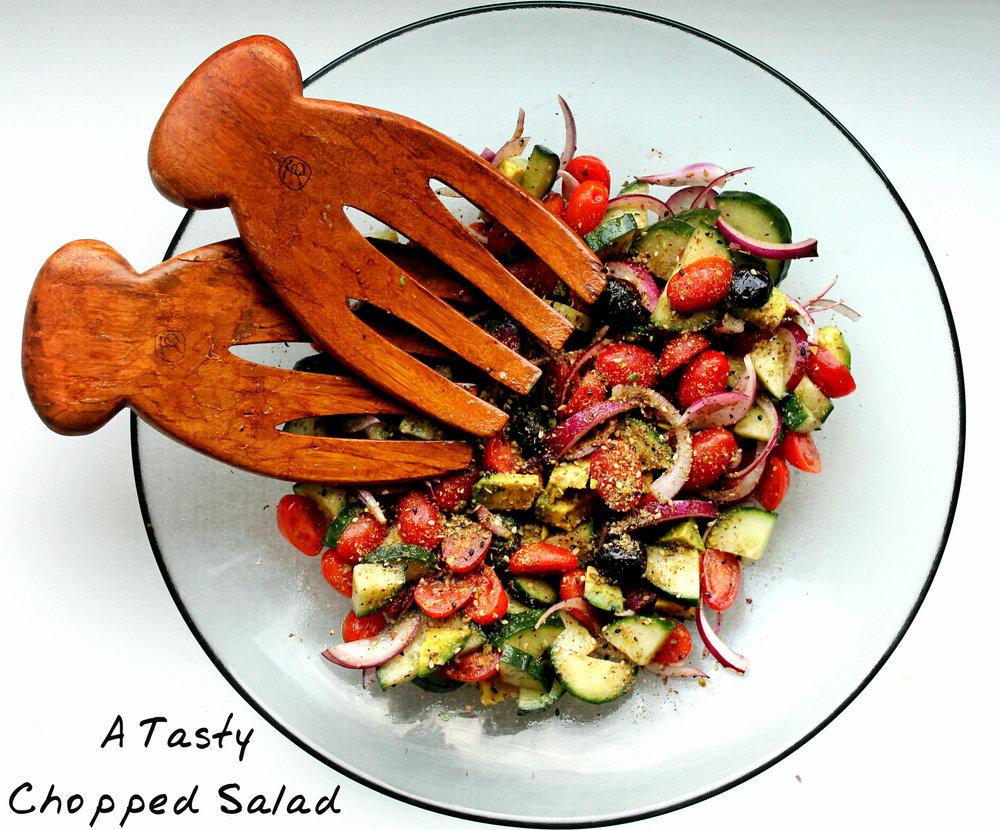 A Tasty Chopped Salad