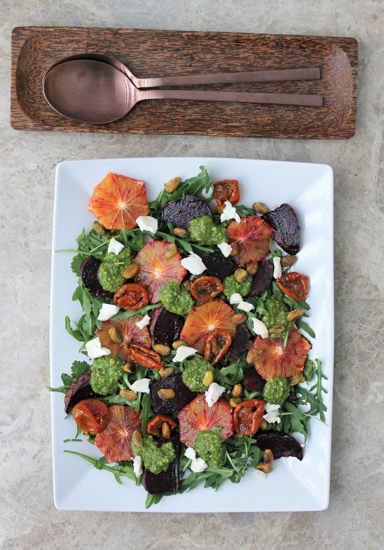 Roasted Beet and Blood Orange Salad