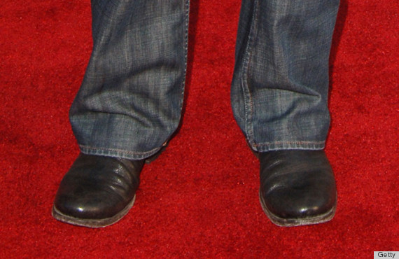 A big mismatch for dress shoes with jeans.