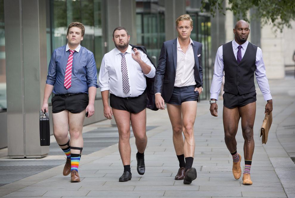 Men In Suit Shorts : Imago Image