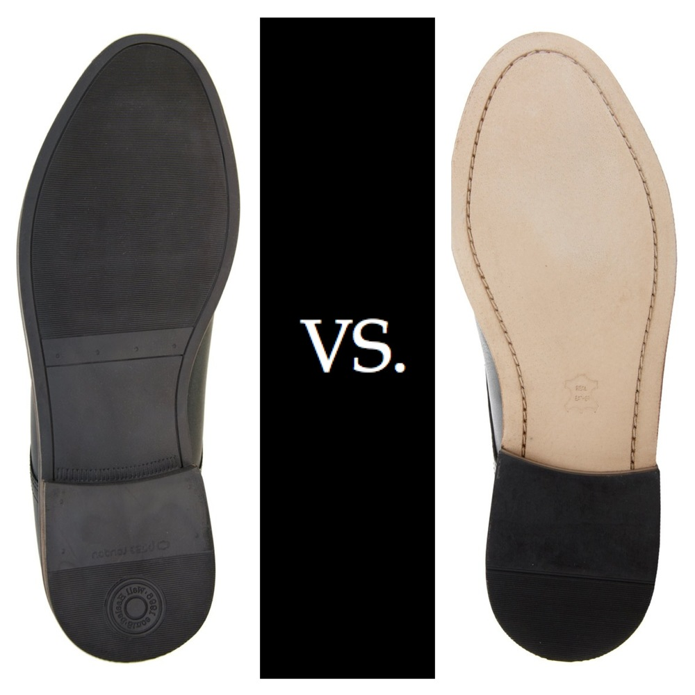 Leather soles are considered more premium than rubber soles.
