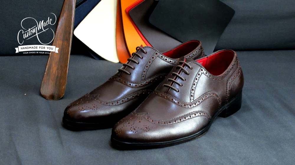 Full Brogues Dark Brown shoes - stylish ( By CustomMade Shoe s)