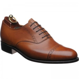 Tan Semi Brogues Oxford - Stylish (good for stylish grooms with a grey suit) - By Loake