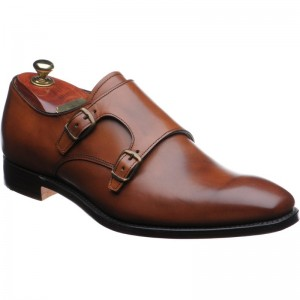 Plain Brown Double Monks From Church's - Stylish (perfect for navy blue suit)
