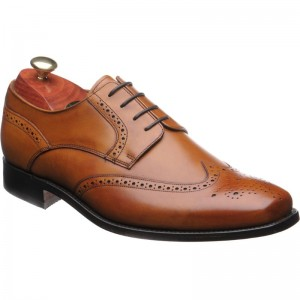 MediumTan Full Brogue Derby with Medallion Toe From Loakes- Casual