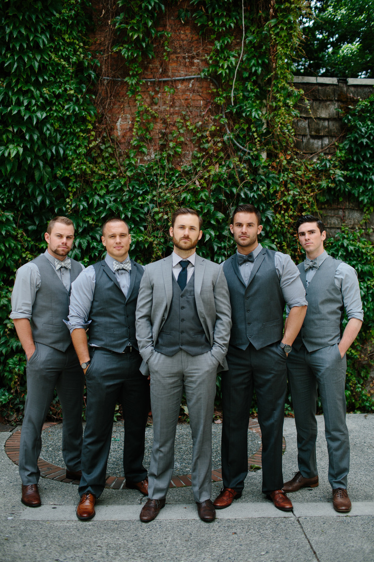 Colored shoes can add a lot more fun and style to your groom and groomsmen.