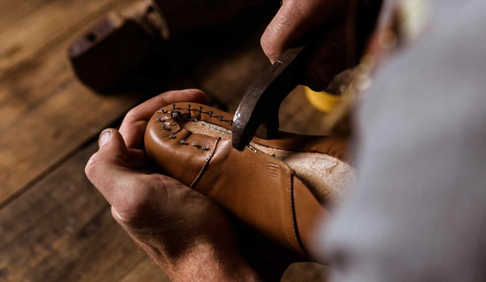 Hand lasting is a more delicate and lengthy process but produces higher quality shoes.
