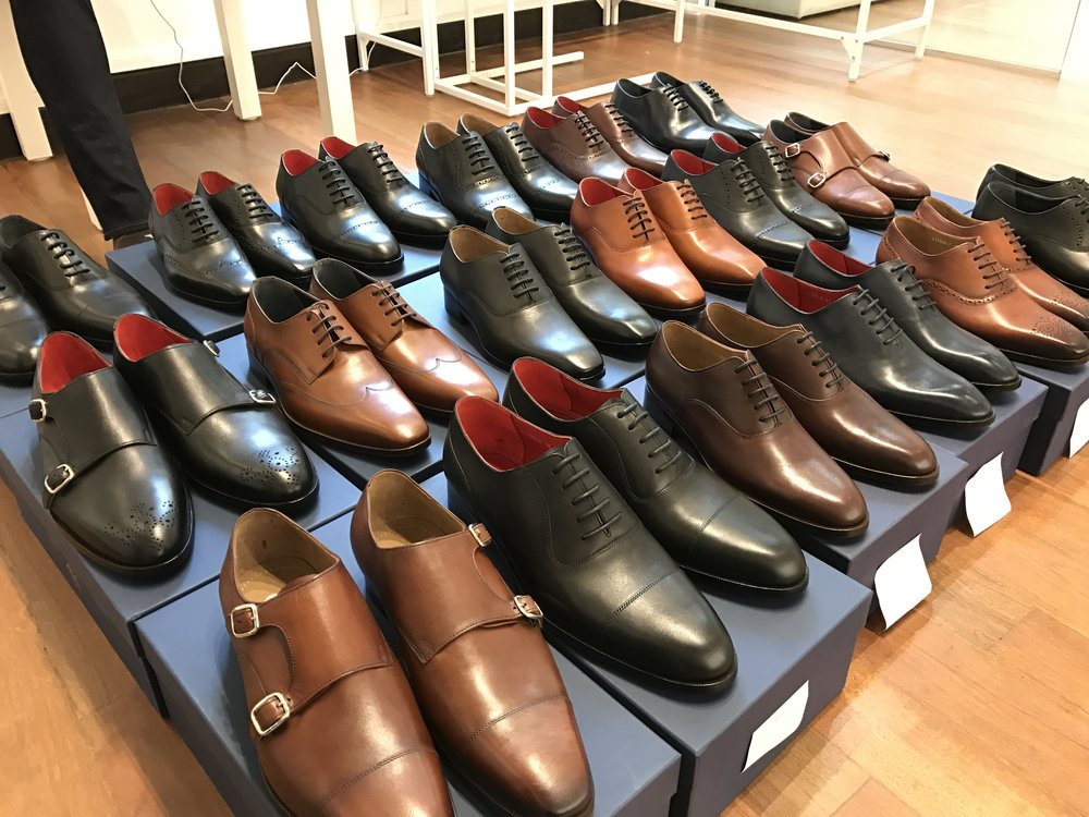 CustomMade shoes awaiting their eager owners! -