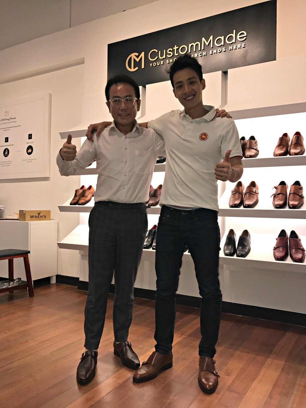 Another happy client with his CustomMade shoe -
