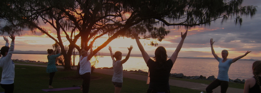 Supporting ourselves and each other in tree pose.