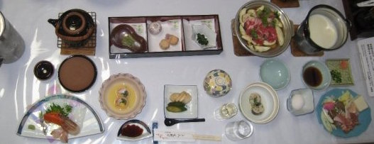 Dinner at a traditional inn