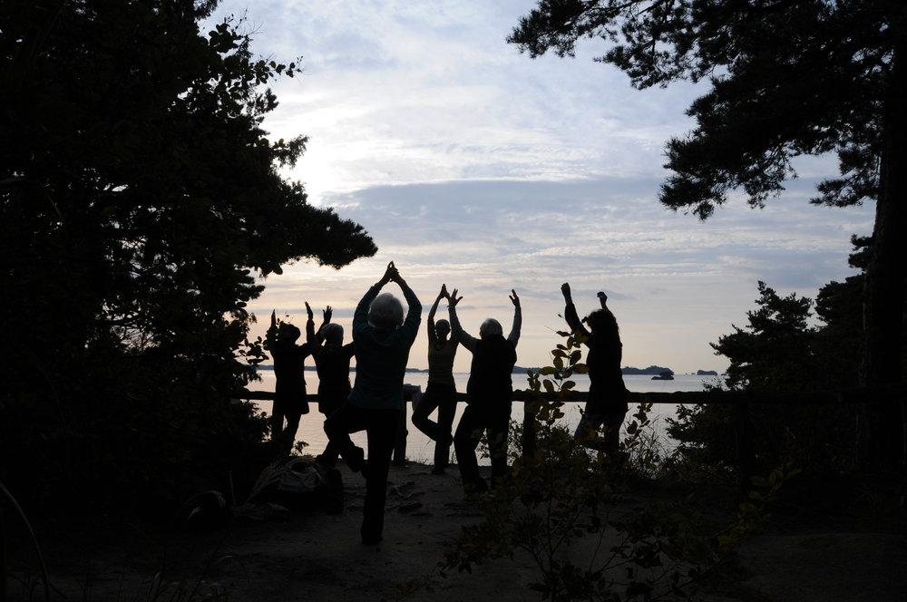 Morning Yoga on Oshima in Matsushima