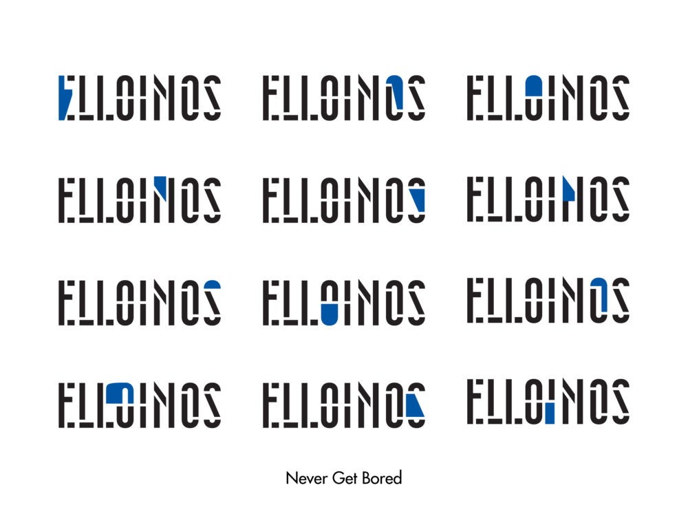The new dynamic logo of ELLOINOS with endless designs yet one identity