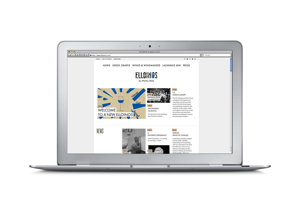 ELLOINOS new responsive website, more like a magazine but as flexible as a blog