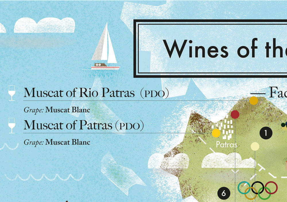 Illustration Detail wine map of the Peloponese