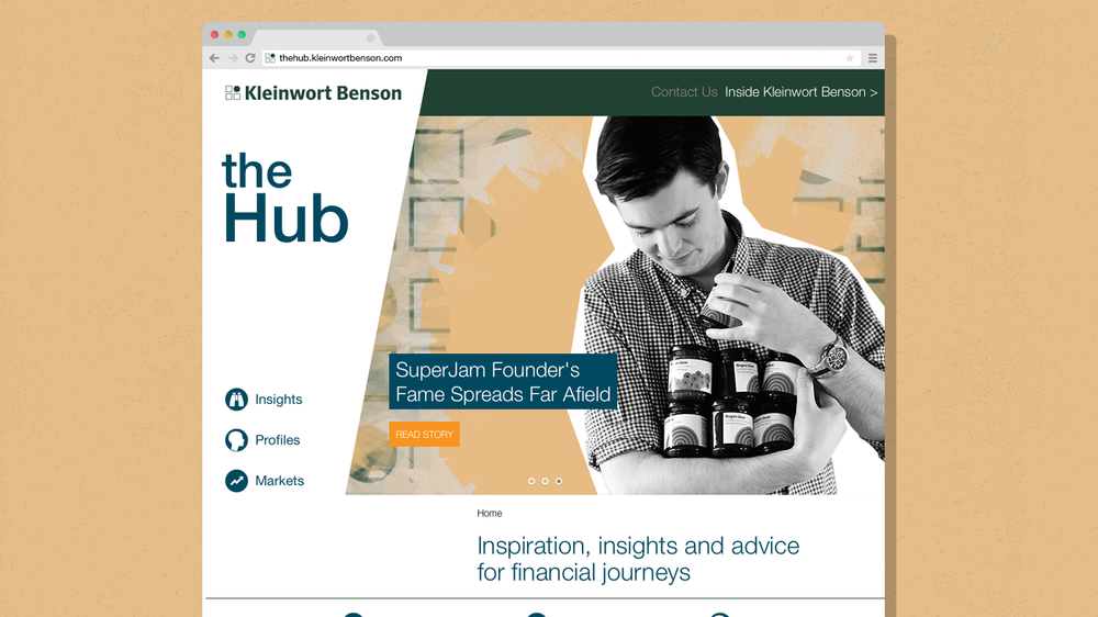 Kleinwort Benson's The Hub site