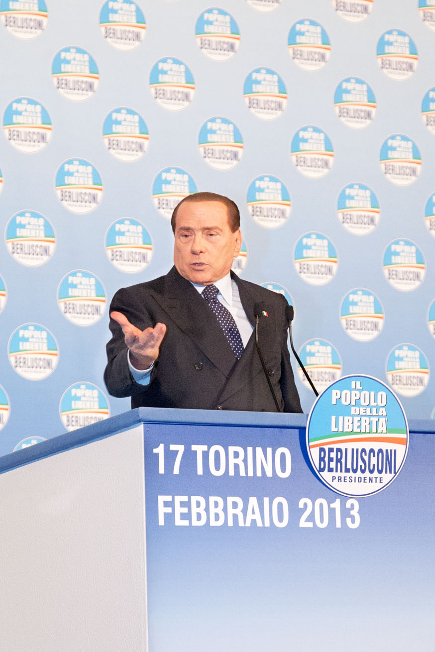 Campagna elettorale 2013 - Berlusconi a Torino