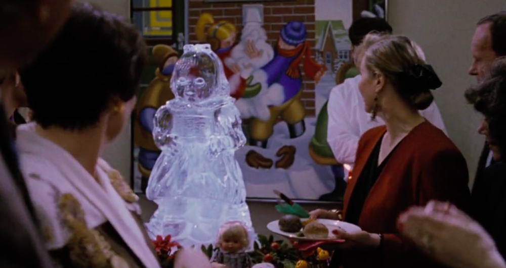 The Do-It-All-For-You-Dolly ice sculpture seeks its next victim