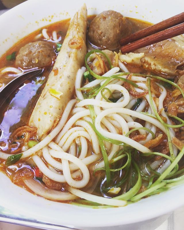 bun bo hue at Co Thanh! - - - #noodles #noodlesoup #happyplace