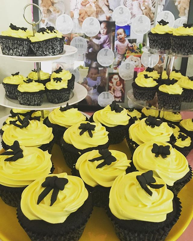 Enjoying baking for family here in Sydney.  These chocolate cupcakes with marshmallow frosting and custom bow toppers, were made for my niece Sienna's 1st birthday party. - - - #chocolatecupcakes #marshmallowicing #homebake #baking #summerinOz #emmawiggleinspired #birthday #family