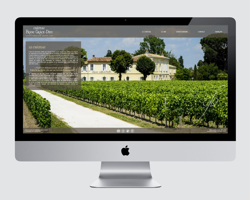 CHATEAU FRANC-GRACE-DIEU - WEBSITE