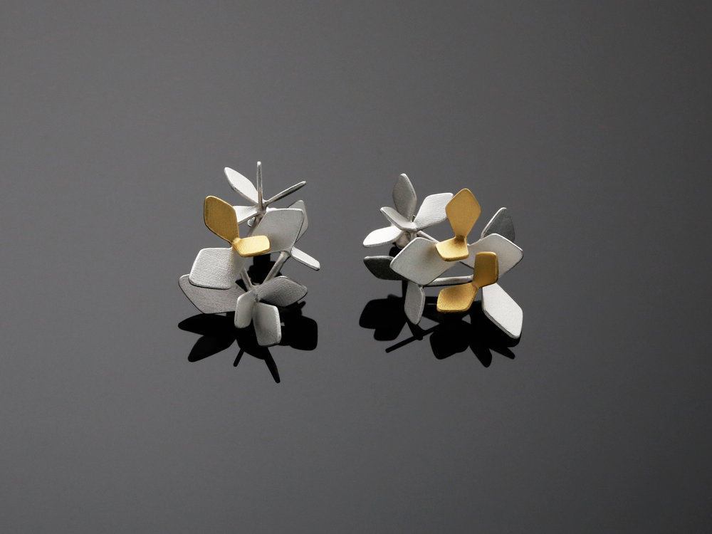 Sparkling Forest / earrings 3 KB