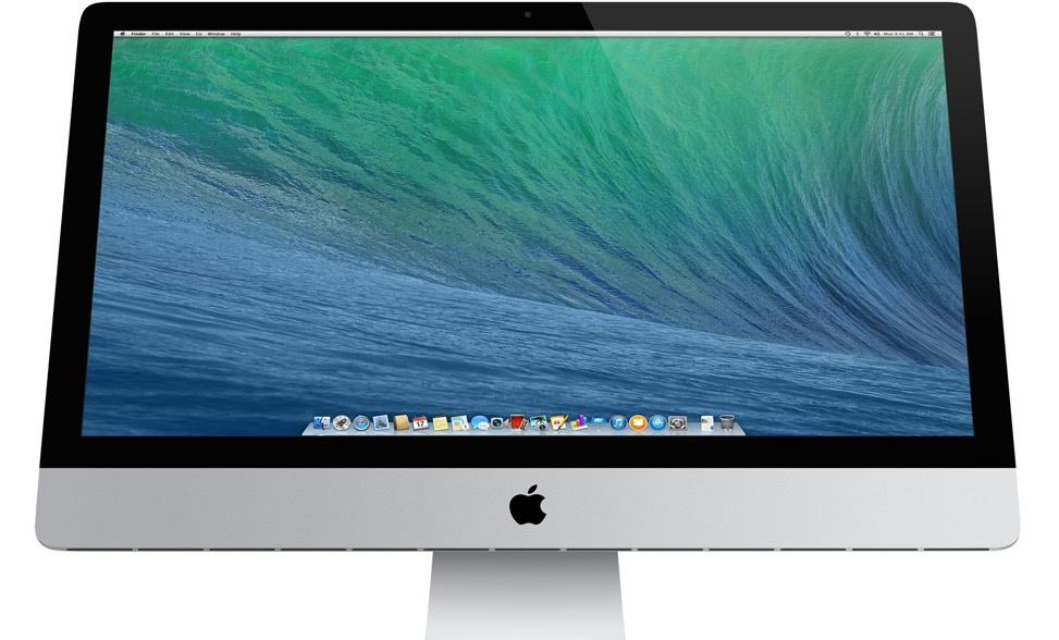 Apple's iMac with the current Mac OS X Mavericks