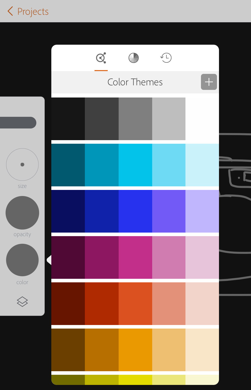 How to choose the colour in the app