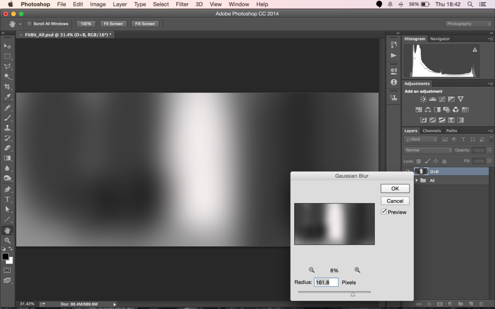 Gaussian Blur the Layer