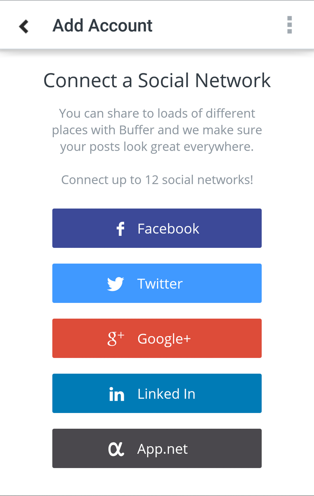 Buffer Social Media Accounts