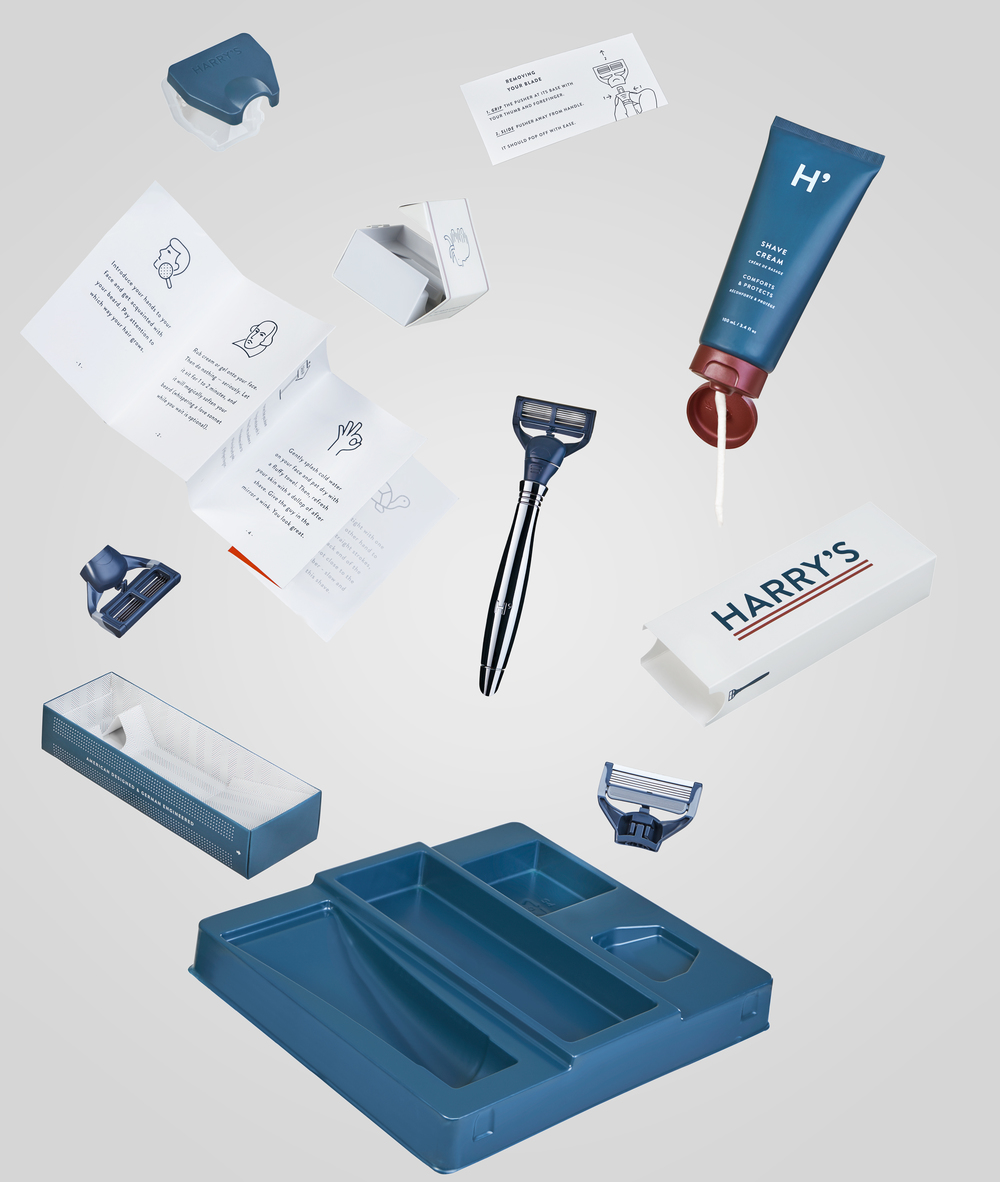 Harry's Shaving Kit Decomposed