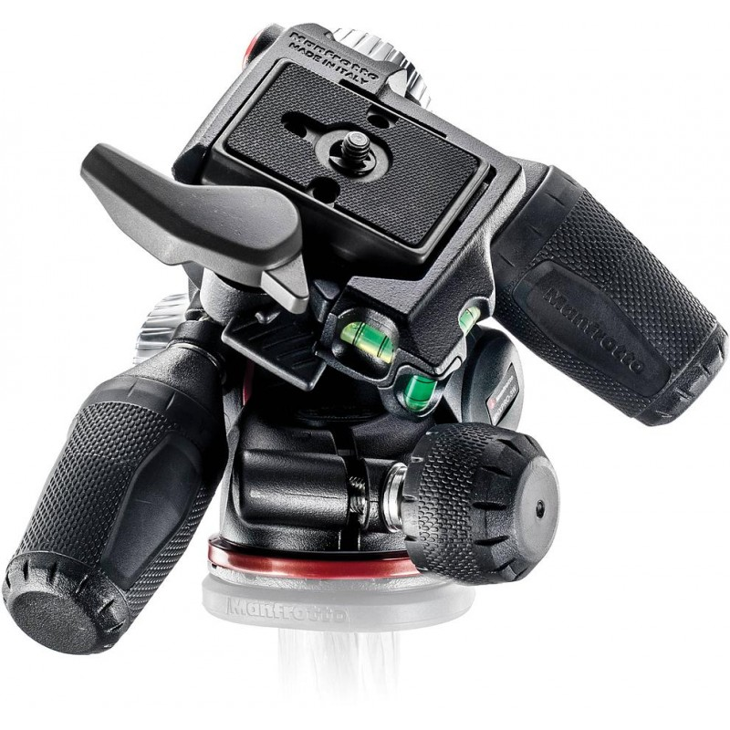 A three-way tripod head
