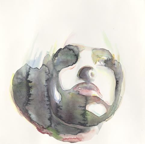 Nastassja Kinski: Jane  |Aquarell auf Büttenpapier | 30 x 30 cm