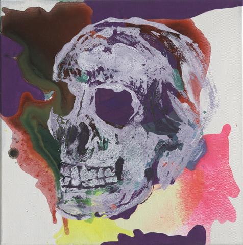 Yorick | Tusche, Acryl und Monotypie auf Leinwand | 30 x 30 cm
