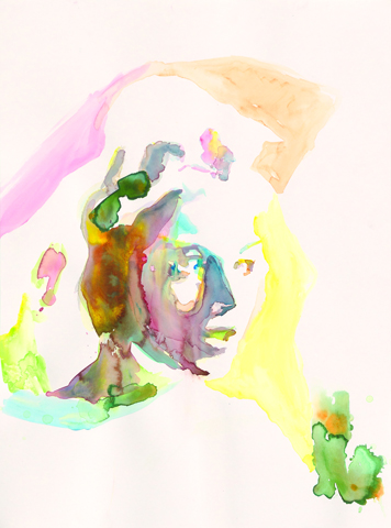 Welt des Scheins  |Aquarell auf Büttenpapier | 61 x 46 cm