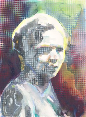 Friede Welten |Aquarell und Acryl auf Büttenpapier | 61 x 46 cm