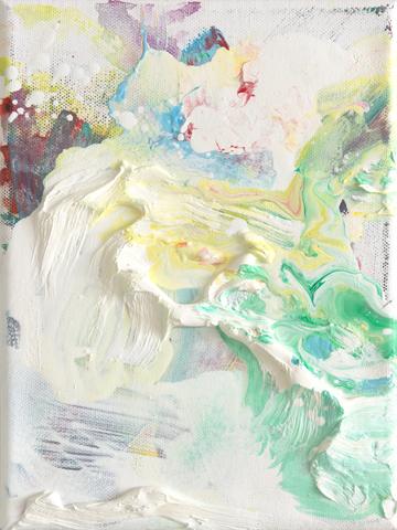 Wo sind wir denn, Konrad  | Tusche, Acryl und Öl auf Leinwand | 24 x 18 cm