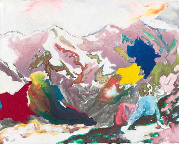Tiroler Bilderbuch  | Tusche, Acryl und Öl auf Leinwand | 30 x 40 cm
