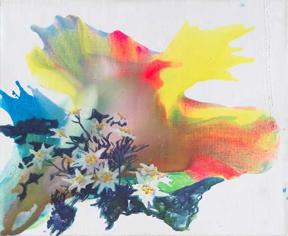 Edelweiß  | Tusche, Acryl und Öl auf Leinwand | 50 x 60 cm