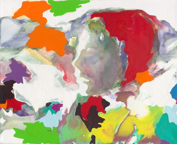 Heidi  | Tusche, Acryl und Öl auf Leinwand | 30 x 40 cm