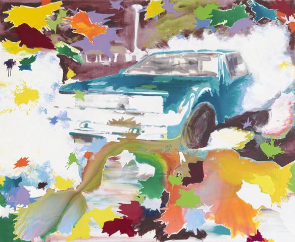 Jeder Blitz ist anders.  | Tusche, Acryl und Öl auf Leinwand | 180 x 220 cm