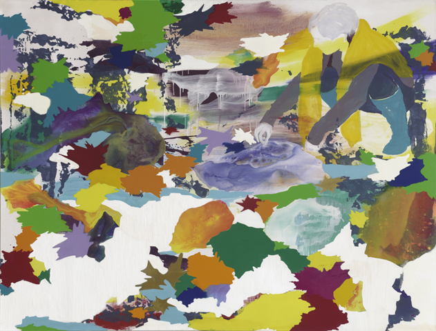 Sucheinstellungen  | Tusche, Acryl, Linoldruck und Öl auf Leinwand |160 x 210 cm