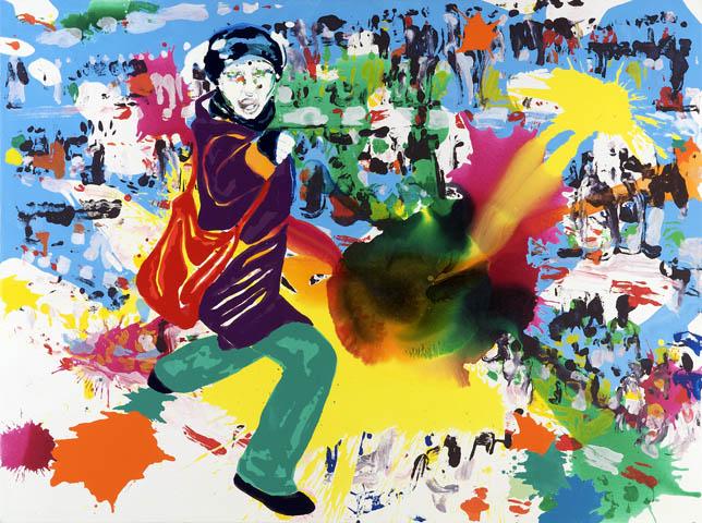Persönliche Motive  | Tusche, Acryl, Druck und Öl auf Leinwand | 150 x 200 cm