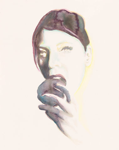 Eva  |Aquarell auf Büttenpapier | 50 x 40 cm