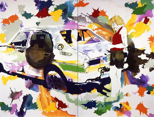 Fernweh  | Tusche, Acryl und Öl auf Leinwand | 280 x 360 cm (2tlg.)