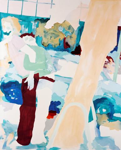 Draußen vor Schleswig  | Tusche, Acryl u. Öl auf Leinwand | 230 x 186 cm